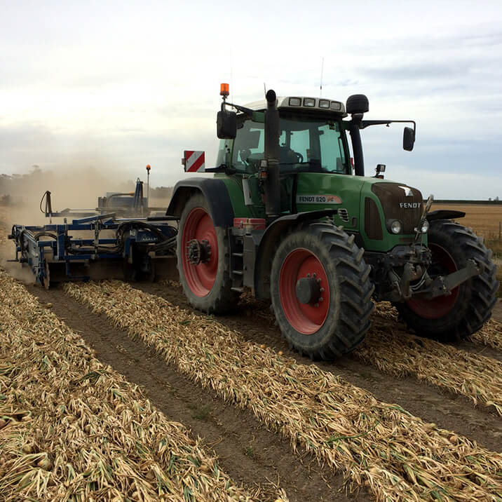 February - combine harvester getting wheat, barley & grass into storage