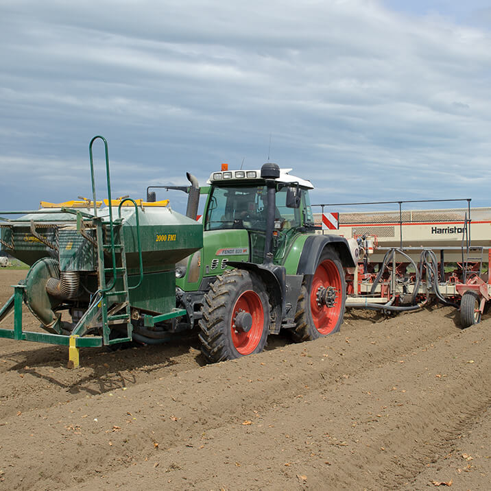 October - spraying and fertilizing crops
